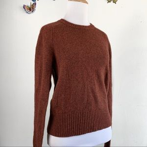 J.Crew 100% Merino Wool Red Brown Small Pullover